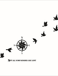 cheap -Compass Of Migratory Birds Removable Vinyl Wall Stickers Home Decor Living Room Art Decal Diy Quote Wall Sticker