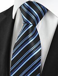cheap -Striped Blue Black Formal Business Men's Tie Necktie Wedding Holiday Gift #1019