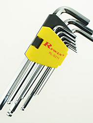 Недорогие -rewin® средство обеспечения технической Grade-дюймовый 9pcs шестигранный ключ установки сплава сталь S2