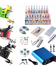 cheap -Tattoo Machine Starter Kit 1 steel machine liner & shader 3 steel machine liner & shader 1 alloy machine liner & shader Mini power supply