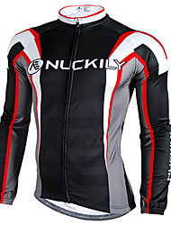 cheap -Nuckily Cycling Jacket Men's Long Sleeves Bike Jersey Top Waterproof Thermal / Warm Windproof Rain-Proof Reflective Strips Polyester