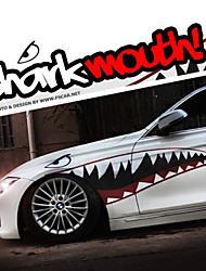 "cheap -A Size 60""*20""Cool Shark Mouth Teeth Ho Car Auto Body Decals Sticker Reflective (1 Pair)"