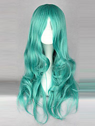 Cosplay Wigs Sailor Moon Sailor Neptune Green Medium Anime Cosplay Wigs 65 CM Heat Resistant Fiber Female