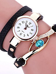 cheap -Women's Fashion Watch / Bracelet Watch / Simulated Diamond Watch Imitation Diamond PU Band Bohemian Black / White / Blue