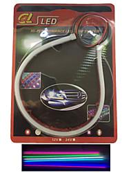 economico -2 pezzi che emettono tubo del LED morbide evidenziare sopracciglio auto lampada led spia articolo 30 cm