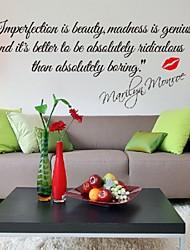 baratos -Autocolantes de Parede Decorativos - Etiquetas de parede de palavras e citações Vida Imóvel Sala de Estar / Quarto / Banheiro