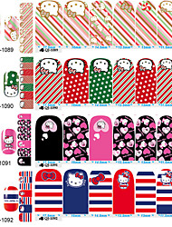 cheap -1PC Hellokitty The Cat In The Second Quarter All Posted 14 To Stick Nails Stickers