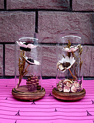 Creative Boutique Gifts Crafts Dried Flowers Micro Landscape Glass Furnishing Articles