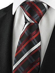 cheap -Checked Red Black Mens Tie Formal Suits Necktie Wedding Holiday Gift KT1075