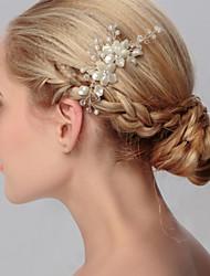 Недорогие -жемчужные волосы расчесывать головной убор свадебный вечер элегантный женственный стиль