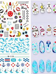 economico -Adesivi 3D unghie / Gioielli per unghie-Adorabile- perDito- diPVC-1pcs-6.6*7.2