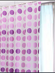 cheap -Classic Modern Floral  Thick Waterproof PEVA Shower Curtain Bathroom Curtain With Hooks