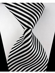 cheap -New Striped Black White Classic Formal Men's Tie Necktie Wedding Party Gift