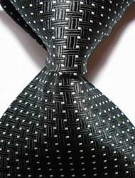 economico -cravatta cravatta in jacquard intrecciata da sera da uomo / da cerimonia
