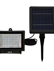 30 LED branco / quente / cor verde clara segurança ao ar livre lâmpada paisagem holofote solar para gramado e jardim