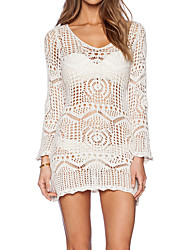 cheap -Women's Boho Cover-Up - Solid Colored, Lace