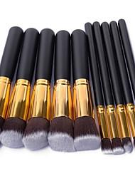 baratos -Pincéis de maquiagem Profissional Conjuntos de pincel / Pincel para Blush / Pincel para Sombra Fibra Sintética / Escova de Nailom Portátil / Viagem / Amiga-do-Ambiente Madeira