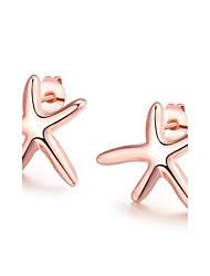 abordables -Mujer Cristal Pendientes cortos - Estrella de mar Moda Oro Rosa Para Boda / Diario