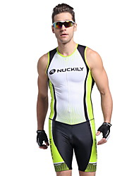 Nuckily Tri Suit Men's Short Sleeves Bike Vest/Gilet Triathlon/Tri Suit Jersey Top Anatomic Design Ultraviolet Resistant Moisture