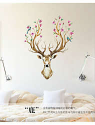 cheap -Animals / Still Life / Florals Wall Stickers Plane Wall Stickers,pvc 60*90cm