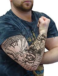 tatuaggio maniche desigh sportive maniche braccio bike copertura di protezione del sole della pelle bracciale elastico (coppia)