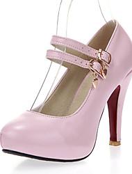 abordables -Femme Chaussures Similicuir Printemps Eté Talon Aiguille pour Habillé Soirée & Evénement Blanc Noir Rose Bleu clair