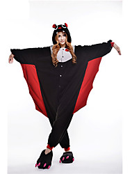 Pyjama Kigurumi  Chauve souris Combinaison Pyjamas Costume Polaire Noir Cosplay Pour Adulte Pyjamas Animale Dessin animé Halloween Fête /