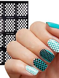 2016 New  Nail Vinyls Irregular Grid Pattern Stamping Nail Art Tips Manicure Stencil Nail Hollow Stickers Guide 1pcs
