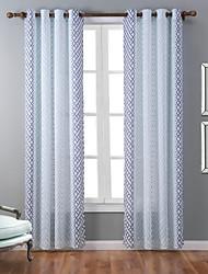Ein Panel Modern Geometrisch Multi-color Schlafzimmer Polyester Flächenvorhänge Vorhänge
