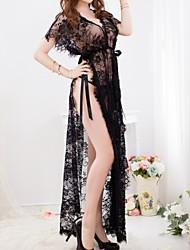 Недорогие -Для женщин Ультра-секси Ночное белье,Кружева Кружева Черный