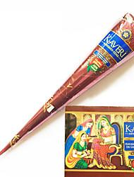 o dia das bruxas 12 cones henna ervas naturais tinta de tatuagem temporária arte corporal kit mehandi Kaveri
