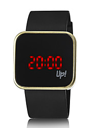 cheap -Men's Casual Watch / Fashion Watch / Digital Watch LED Silicone Band Black / Stainless Steel