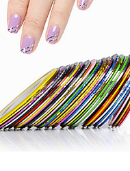 cheap -10pcs Nail Striping Tape Metallic Yarn Line 3d Nail Art Tool Color Rolls Nail Decals DIY Nail Tips Sticker Decoration