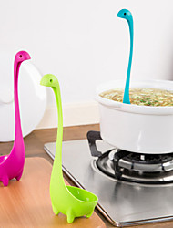 cheap -The Loch Ness Monster Spoon Long Handle Can Stand Can Hang a Spoon Random Color