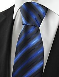 cheap -New Striped Blue Black Novelty Unique Men's Tie Necktie Wedding Party Gift #1042