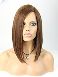 povoljno -Ljudska kosa Full Lace Lace Front Perika Ravan kroj 130% 150% Gustoća 100% rađeno rukom Afro-američka perika Prirodna linija za kosu