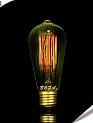 bofa st58 e27 40w art edison tungstène déco lumière (85v-265v)