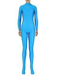 economico -Costumi zentai Tutina aderente Ninja Costumi Zentai Costumi Cosplay Blu Tinta unita Calzamaglia / Pigiama intero Costumi Zentai Elastene