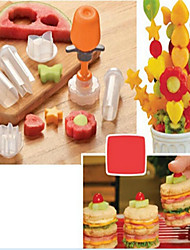 cheap -6 in 1Pop Chef Fruit Mould Tools Carve patterns Tools Fruit Cake Shape Maker