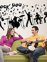 cheap -Wall Stickers Wall Decals Style Creative Rock PVC Wall Stickers