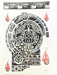 baratos -#(1) Estampado Á Prova d'água Séries Totem Tatuagens Adesivas