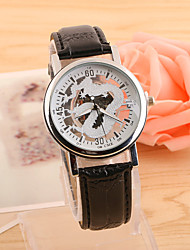 preiswerte -Herren Armbanduhr Quartz PU Band Schwarz Braun 1 # 2 # 3 # 4 # 5 #
