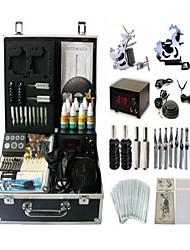 basekey tatouage kit machine jhk062 s 2 avec poignées d'alimentation de nettoyage des aiguilles d'encre brosse