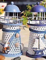 Недорогие -средиземноморский маяк подсвечник подсвечник свеча стенд свет держатель фонарь домашнее украшение