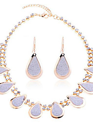 Summer Jewelry Gem / Silver Plated Jewelry Set Necklace/Earrings