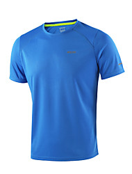 Arsuxeo Men's Running T-Shirt Short Sleeves Quick Dry Antistatic Breathable Static-free Lightweight Materials Reflective Strips Limits