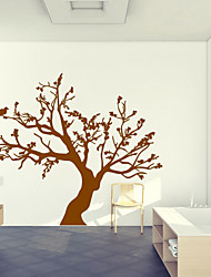 cheap -Botanical Tree Wall Decals Romance / Still Life / Shapes Wall Stickers Plane Wall Stickers,vinyl 57*95cm
