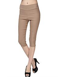 levne -Dámské Jednobarevné Legging - Pevná barva Vysoký