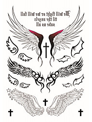 cheap -Fashion Large Temporary Tattoos Wings Sexy Body Art Waterproof Tattoo Stickers 2PCS  (Size: 5.71'' by 8.27'')