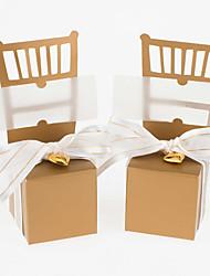 abordables -Créatif Papier durci Titulaire de Faveur avec Fleur Boîtes à cadeaux